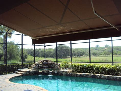 Retractable Awning Within Screened Pool Enclosure