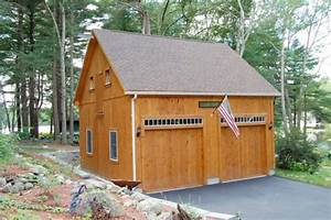 Garages sevigny custom barns post and beam for 24x24x12 garage