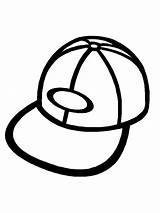 Hat Coloring Pages Baseball Cap Printable Getcoloringpages Outline Clip sketch template