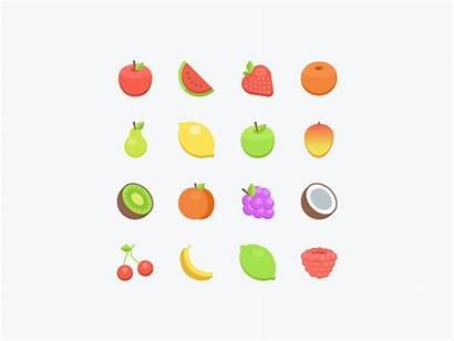 Fruits Healthy Dribbble Icon Them Stuff