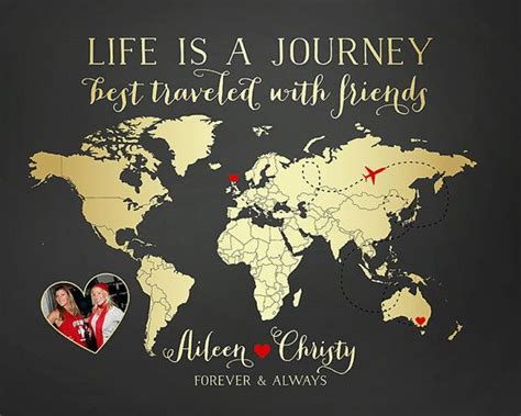 Life Is A Journey, Best Traveled With Friends  Custom Map. Positive Quotes Ecards. Sad Quotes Related To Best Friends. Love You Quotes On Pinterest. Family Quotes Missing You. Movie Quotes Karate Kid. Country Living Quotes And Sayings. Travel Quotes By Rumi. Movie Quotes On Love
