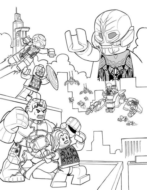 kids n fun com coloring page lego marvel avengers age of