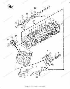 Kawasaki Motorcycle 1980 Oem Parts Diagram For Clutch   U0026 39 80
