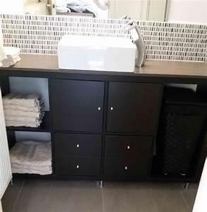 Petit Meuble Salle De Bain : meuble diy ikea pour une petite salle de bain ~ Teatrodelosmanantiales.com Idées de Décoration