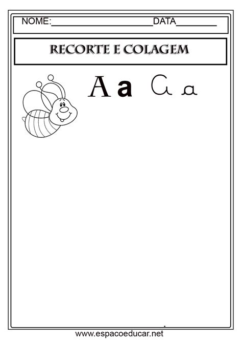 atividades de alfabetiza 199 195 o recorte e colagem as letras do alfabeto gr 193 tis para imprimir