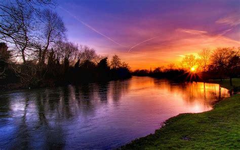 Sunset on the River | Hd Desktop Wallpaper