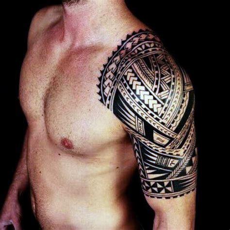 tribal shoulder tattoos  men masculine design ideas