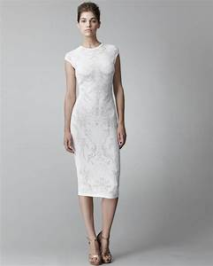 Lyst - Alexander Mcqueen Lace-pattern Sheath Dress in White