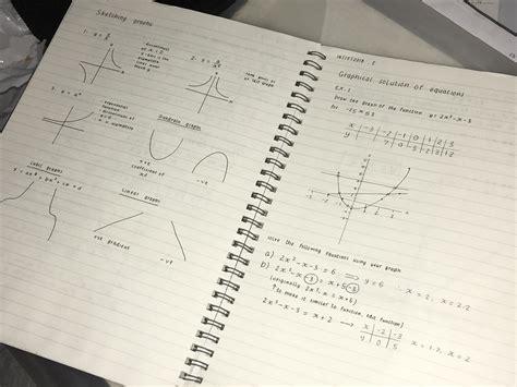math notes handwriting