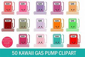 50 Kawaii Gas Pump Clipart- Gas Station Clipart Images