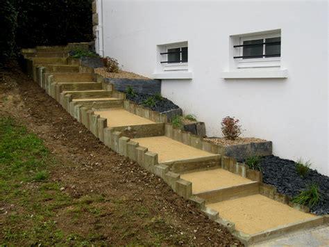 construire un escalier exterieur en bois nivrem fabriquer escalier bois pour terrasse diverses id 233 es de conception de patio en