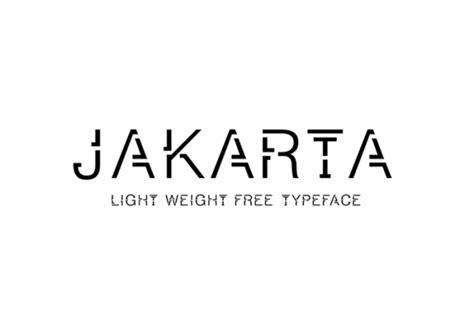 jakarta a free light weight font freebiesbug