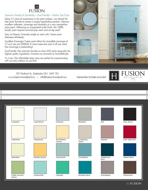 fusion paint colors 17 best images about chalk paint colour recipes on