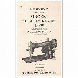 Instruction Manual  Singer 15
