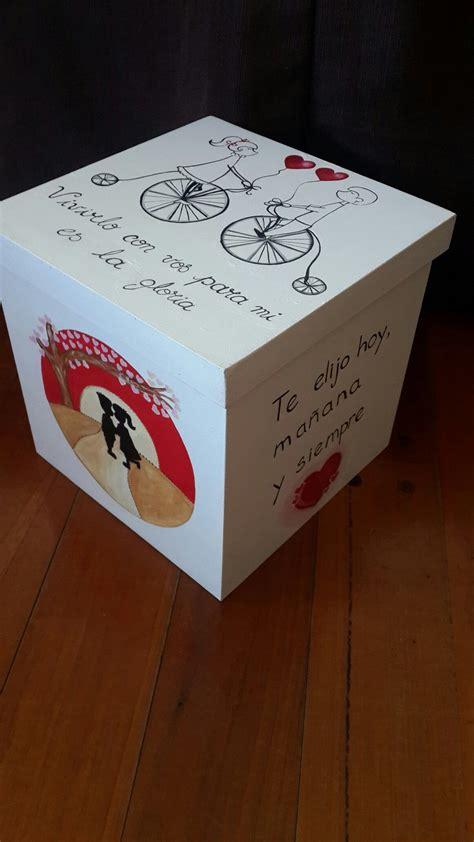 caja cubo aniversario personalizada regalos romanticos