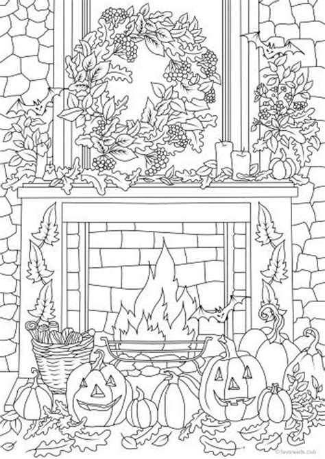 halloween decor printable adult coloring page  favoreads coloring book pages  adults