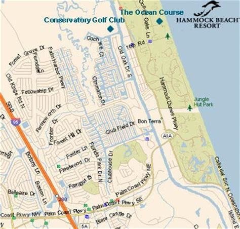Hammock Resort Property Map by Hammock Resort A Palm Coast Golf Resort