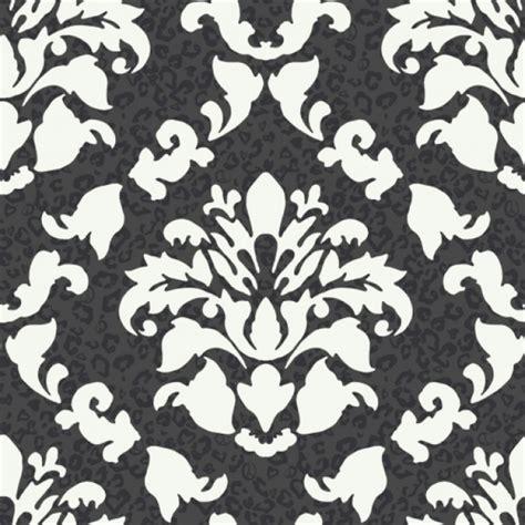 big bold black  white dramatic damask leopard print