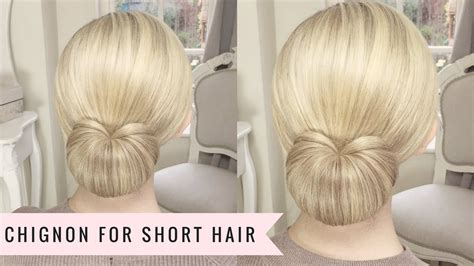 chignon  short hair  sweethearts hair youtube