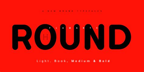 Flamante Round Family Font  1001 Free Fonts