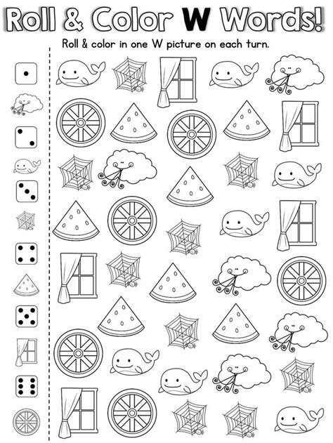 letter w activities letter w worksheets for preschool free worksheets library