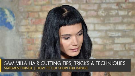 Cutting The Fringe statement fringe how to cut bangs