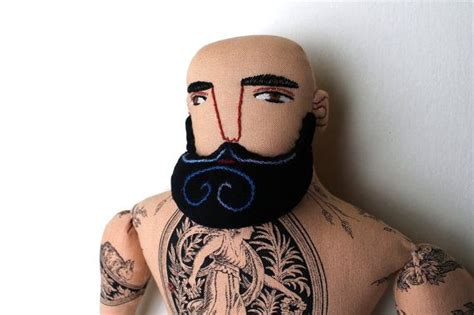 Bald Tattoo Man With Beard