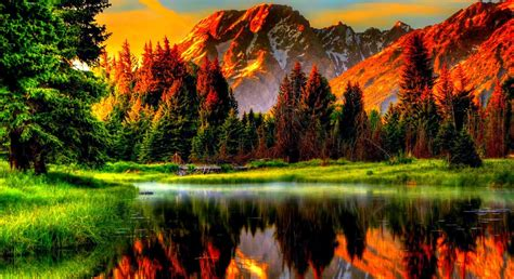 Nature, Landscape, Mountain, Water, Forest Wallpapers Hd