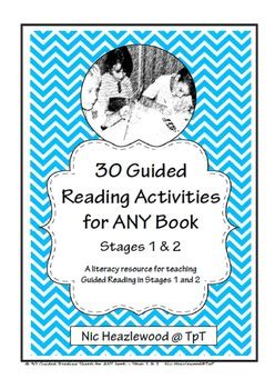 30 guided reading activities for any book by nic heazlewood tpt