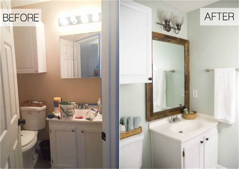 Bathroom Makeovers : Beachy Budget Friendly Bathroom Makeover-making Home Base