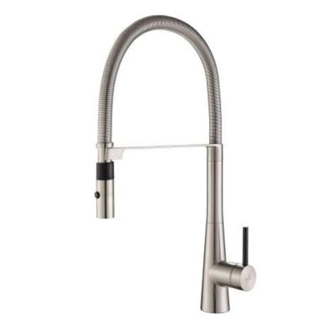 Commercial Kitchen Faucet With Sprayer by Kraus Crespo Commercial Style Single Handle Pull