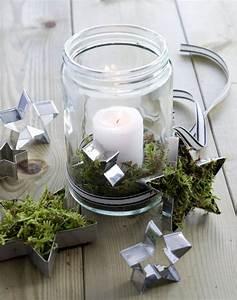 Weckgläser Weihnachtlich Dekorieren : windlichter mit moos deko weihnachten windlichter ~ Watch28wear.com Haus und Dekorationen