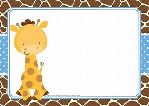 free giraffe birthday and baby shower invitation templates With giraffe baby shower invitations template