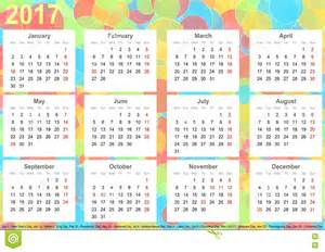 USA 2017 Calendar Printable