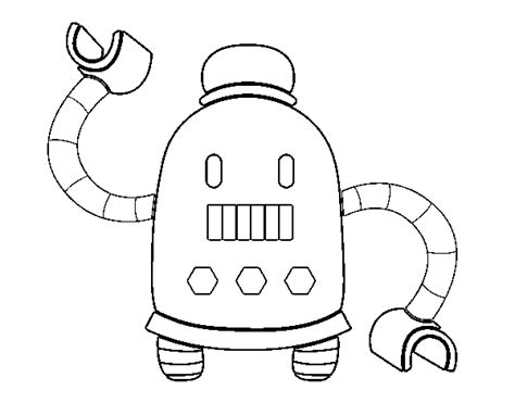 Robot With Long Arms Coloring Page
