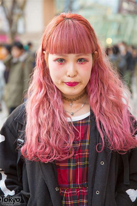 Pink Hair And Makeup W Plaid Dress Jacket Supreme