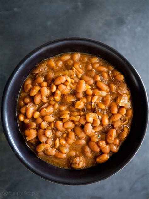 cooker baked beans slow cooked boston baked beans recipe simplyrecipes com