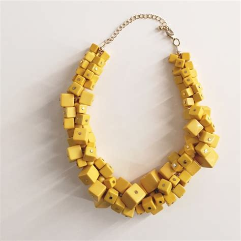 60% Off H&m Jewelry  H&m Yellow Cube Necklace + Gold