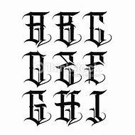 Gangster Tattoo Lettering Alphabet