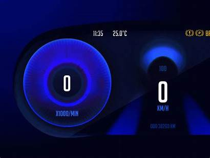 Animation Dashboard Headlight Process Speed Acceleration Throttle