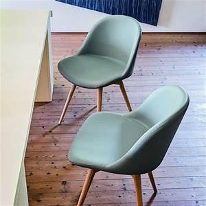 Chaise Scandinave Simili Cuir : chaise scandinave simili cuir bleu azur midj sur cdc design ~ Teatrodelosmanantiales.com Idées de Décoration