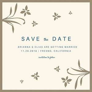 customize 4987 save the date invitation templates online With wedding invitation wording samples save the date