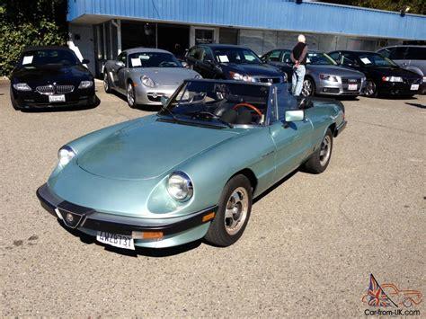 1984 Alfa Romeo Spider by 1984 Alfa Romeo Spider Veloce Convertible