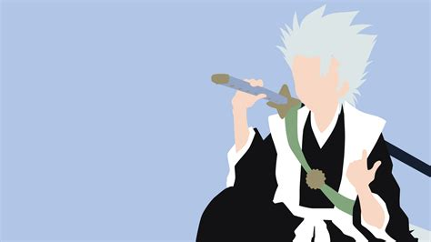 Anime Minimalist Wallpaper - hitsugaya toshiro minimalistic wallpaper by