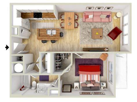 1 Bedroom  Tuscan Floor Plan  3d Rendering  Brand New