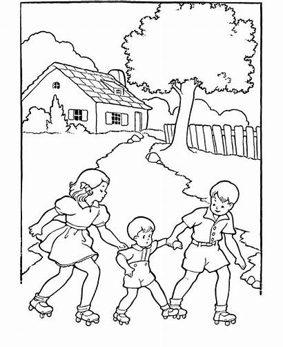 Coloring Pages Children Sheets Printable Activity Playing
