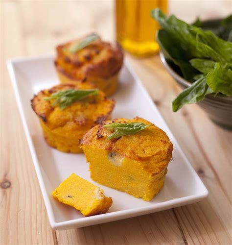 cuisine italienne recettes petits flans de polenta aux carottes et roquefort les