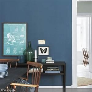Farbe Für Holzmöbel : blaue wandfarbe als kontrast wandfarbe wandbilder und ~ Michelbontemps.com Haus und Dekorationen