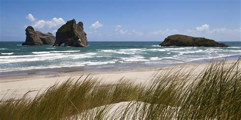 wharariki beach beach in new zealand thousand wonders