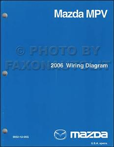 2006 Mazda Mpv Repair Shop Manual Original